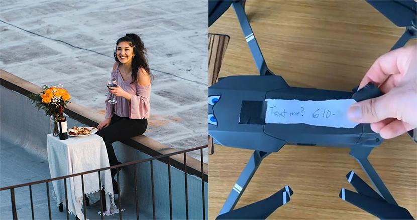 外出禁止のNYで、ビルの屋上で踊る女性を目撃した男性、ドローンでアプローチし「屋上ディナー」成功