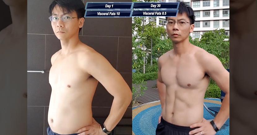 『ワンパンマン』のトレーニングを1カ月間実践した男性、メタボ体型からマッチョへ驚異の大変身