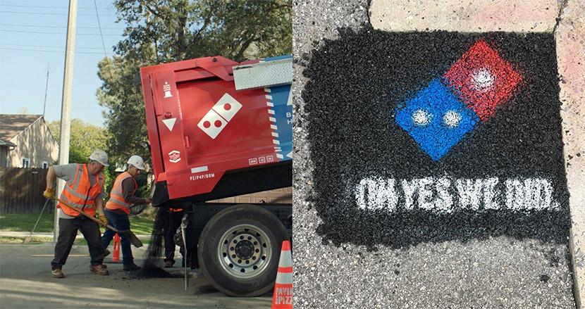 米ドミノ・ピザ、ピザを安全に届けるため、道路補修キャンペーンを実施。新しい広告のカタチに反響