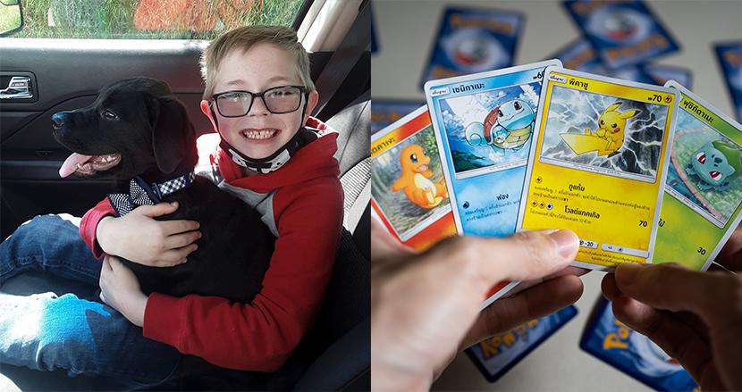 愛犬の治療費のため、8歳の男の子が大切なポケモンカードを路上で販売。それを知ったポケモン米国本社が粋な計らい