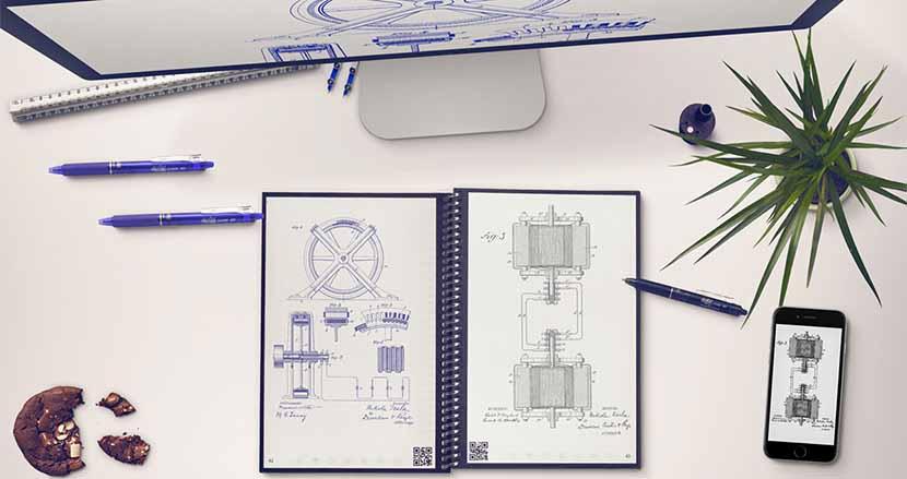 ホワイトボード感覚で使えるスマートノート「Rocketbook」