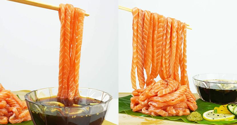 サーモンの刺身をつけ麺のように食べる「サーモンヌードル」が衝撃的!シンガポールの寿司屋で爆誕