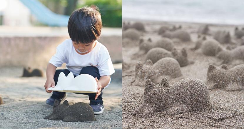 砂浜を猫が埋め尽くす! あらゆるものを猫の形にする、日本発の「ネコカップ」が海外から反響