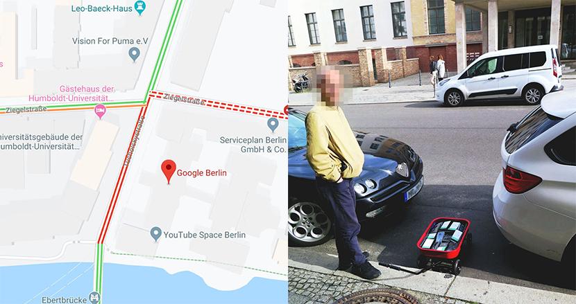 スマホ99台でGoogleマップ上に仮想の交通渋滞を起こす実験に、Googleがまさかの感謝?!