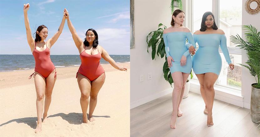 異なる体型の女性2人が同じ服装をしたら… 体型批判から若者を解放するメッセージでSNSを席巻