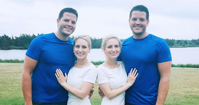 一卵性双生児の双子兄弟が双子姉妹と結婚、そして同時に妊娠発表!すべてがお揃いの双子カップルに祝福の声