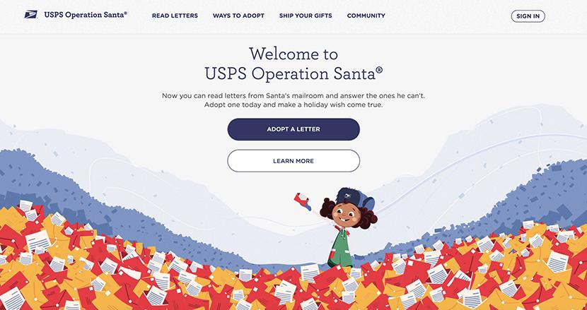 恵まれない子どもからのサンタへの手紙を見て、匿名でプレゼントを贈ることができるサイトを米国郵政公社が公開