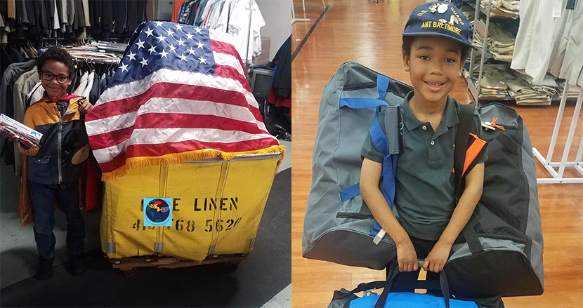 ホームレスの退役軍人の支援活動をする8歳少年。5万ドルの寄付を集め、3000個の「ヒーローバッグ」を配布する
