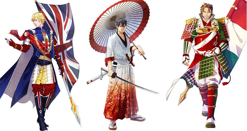 世界の国旗をイケメン侍に擬人化! 日本発の「ワールドフラッグス」が海外から熱視線