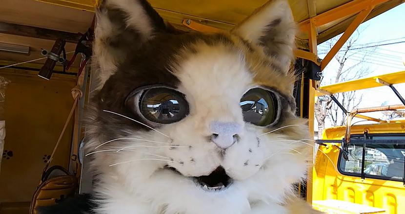 店主はリアルな巨大猫! 鳥取に出没する一風変わった焼きいも屋が話題に。海外からも反響